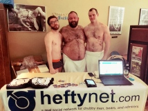 The guys of HeftyNet having a table at Chubs at the Tubs. Photo: Tanker