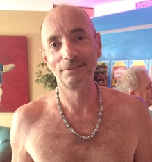 Here Bill is wearing his prize, a chainmaille donated by Charles MacPhee.
