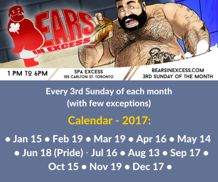 Bears in Excess - Calendar